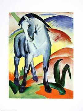 Blaues Pferd I - Monaco of artist Franz Marc as framed image