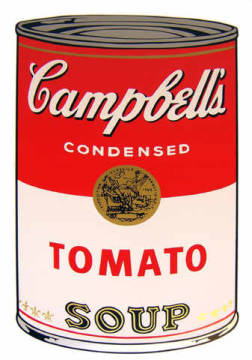 Campbell's Soup - Tomato of artist Andy Warhol as framed image