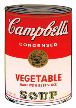 Grafik: Andy Warhol, Campbell's Soup - Vegetable