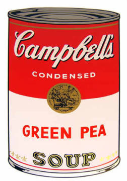 Grafik: Andy Warhol, Campbell's Soup - Green Pea