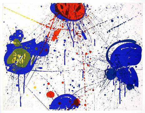Grafik: Sam Francis, The upper Red