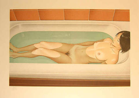 Grafik: Mel Ramos, Bonnards Bath, 1979