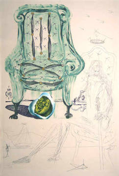 Grafik: Salvador Dalí, Imaginations Pneumatic Armchair WVZ 826