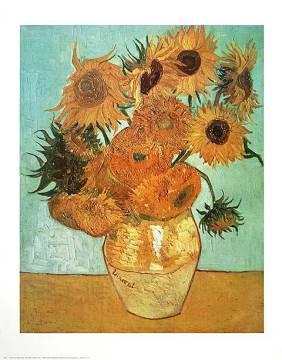 Van Gogh Sonnenblumen Kunstdruck Leinwandbild Gerahmtes Bild