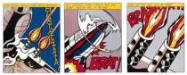 Roy Lichtenstein - As I opened Fire (Triptychon)