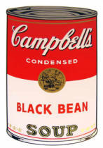 Andy Warhol - Campbell's Soup - Black Bean