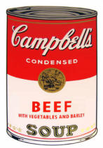 Andy Warhol - Campbell's Soup - Beef with vegetables and Barley