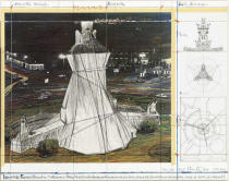 Christo und Jeanne-Claude - Wrapped Fountain, P. for La Fontana de Jujol