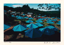 Christo und Jeanne-Claude - Jinba Blue Umbrellas