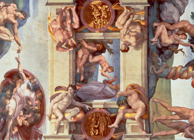 Fine Art Reproduction Sistine Chapel Ceiling 1508 12 The Creation Of Eve 1510 By Michelangelo Buonarroti On Kunstdruckpapier
