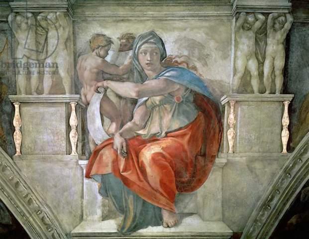 Kunstdruck Sistine Chapel Ceiling Delphic Sibyl Von Michelangelo Buonarroti Auf Kunstdruckpapier