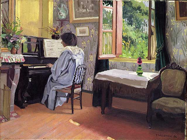 Vallotton: Lady at the Piano, 1904. Kunstdruck, Leinwandbild ...