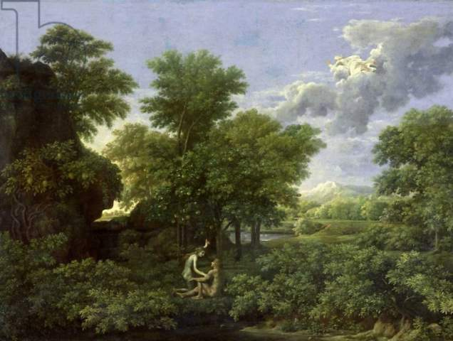 Poussin Spring Or The Garden Of Eden Art Print Canvas On Stretcher