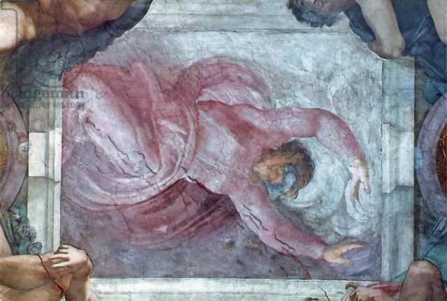Kunstdruck Sistine Chapel Ceiling God Dividing Light From Darkness Von Michelangelo Buonarroti Auf Kunstdruckpapier