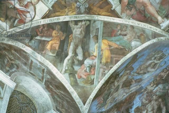 Kunstdruck Sistine Chapel Ceiling Haman Von Michelangelo Buonarroti Auf Kunstdruckpapier