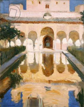Kunstdruck: Joaquin Sorolla y Bastida, Hall of the Embassadors, Alhambra, Granada, 1909