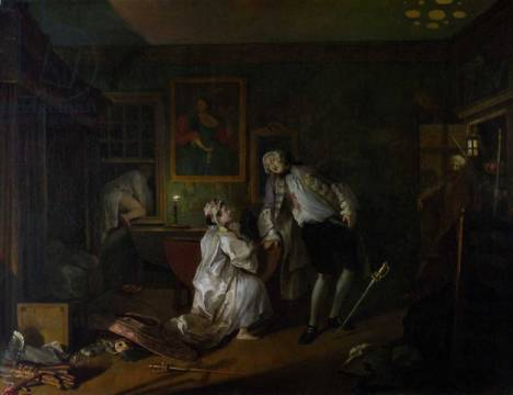 Kunstdruck: William Hogarth, Marriage a la Mode: V, The Bagnio, c.1743