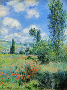 Kunstdruck, individuelle Kunstkarte: Claude Monet, View of Vetheuil, 1880