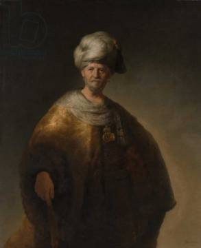 Kunstdruck: Harmensz van Rijn Rembrandt, Portrait of an Oriental Man, The Noble Slav, 1632