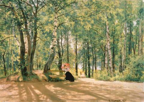At the Summer Cottage, 1894 of artist Ivan Ivanovich Shishkin as framed image