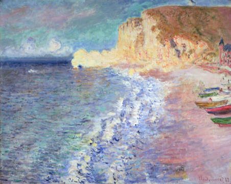 Kunstdruck, individuelle Kunstkarte: Claude Monet, Morning at Etretat, 1883