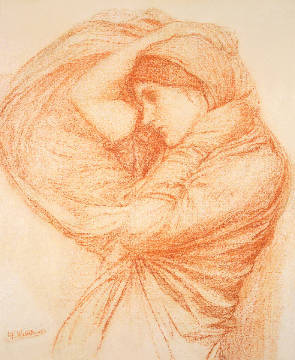 Kunstdruck, individuelle Kunstkarte: John William Waterhouse, Study for 'Boreas'