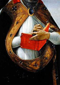 Kunstdruck: Sandro Botticelli, Detail of St. Augustine, from the 'Coronation of the Virgin', c.1488-90