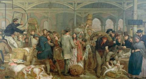 Kunstdruck: George Elgar Hicks, Billingsgate Fish Market
