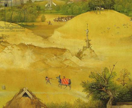 Detail of The Adoration of the Magi, detail of background figures, 1510 of artist Hieronymus Bosch as framed image