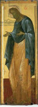 Kunstdruck: Andrei Rublev, St. John the Forerunner, from the Deisis tier of the Dormition Cathedral in Vladimir