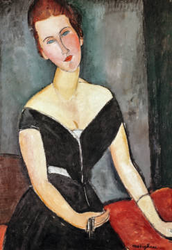 Fine Art Reproduction, individual art card: Amedeo Modigliani, Madame G. van Muyden, 1917