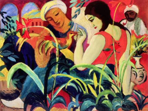 Fine Art Reproduction, individual art card: August Macke, Oriental Women , 1912