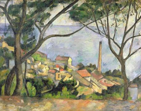 Kunstdruck: Paul Cézanne, The Sea at l'Estaque, 1878