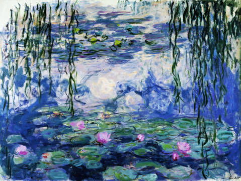 Fine Art Reproduction, individual art card: Claude Monet, Waterlilies, 1916-19