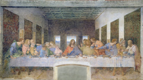 Kunstdruck, individuelle Kunstkarte: Leonardo da Vinci, The Last Supper, 1495-97