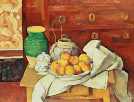 Kunstdruck: Paul Cézanne, Still Life with a Chest of Drawers, 1883-87