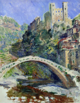 The Castle of Dolceacqua, 1884 of artist Claude Monet as framed image