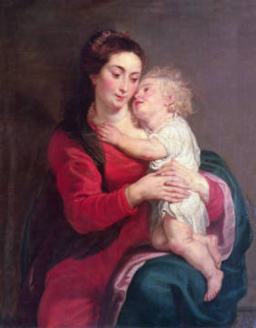 Kunstdruck, individuelle Kunstkarte: Peter Paul Rubens, Virgin with Child