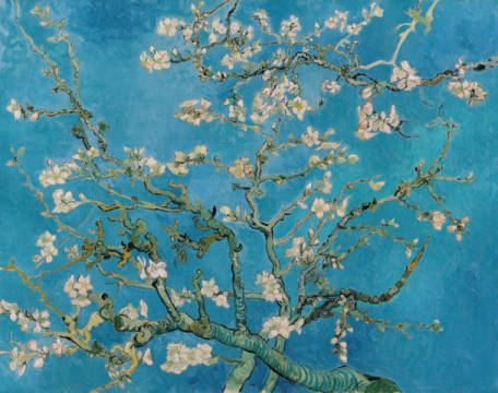 Almond Blossom, 1890 of artist Vincent van Gogh as framed image