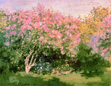 Lilac in the Sun, 1873 of artist Claude Monet as framed image
