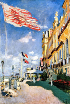 Kunstdruck, individuelle Kunstkarte: Claude Monet, The Hotel des Roches Noires at Trouville, 1870