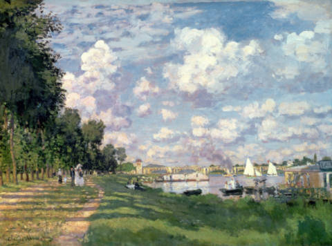 Kunstdruck, individuelle Kunstkarte: Claude Monet, The Marina at Argenteuil, 1872