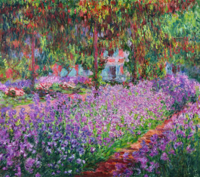 digitaler Kunstdruck, individuelle Kunstkarte: Claude Monet, The Artist's Garden at Giverny, 1900