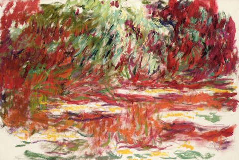 Kunstdruck: Claude Monet, Waterlily Pond, 1918-19