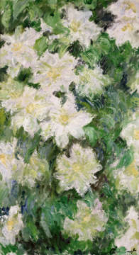 White Clematis, 1887 of artist Claude Monet as framed image