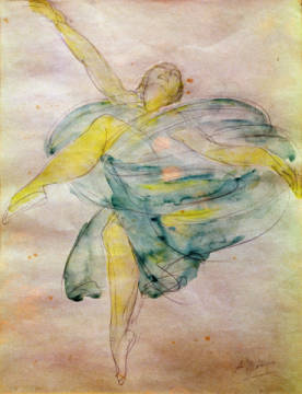Fine Art Reproduction, individual art card: Auguste Rodin, Dancer with Veils