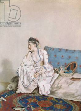 Kunstdruck: Jean-Etienne Liotard, Portrait of Mary Gunning, Countess of Coventry, 1749