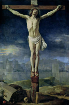 Christ on the Cross, before 1650 von Künstler Philippe de Champaigne als gerahmtes Bild