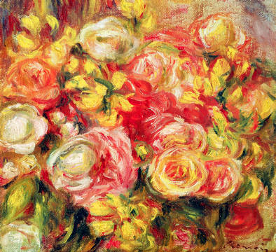 Fine Art Reproduction, individual art card: Pierre Auguste Renoir, Roses, 1915
