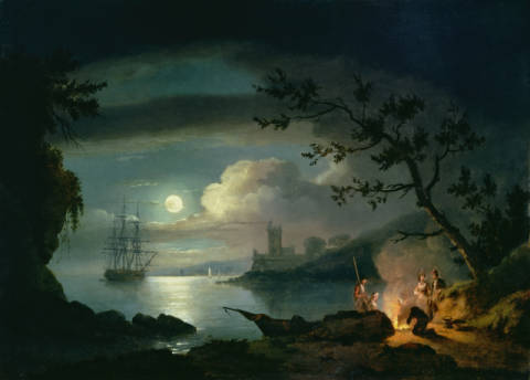Kunstdruck: Thomas Luny, Teignmouth by moonlight